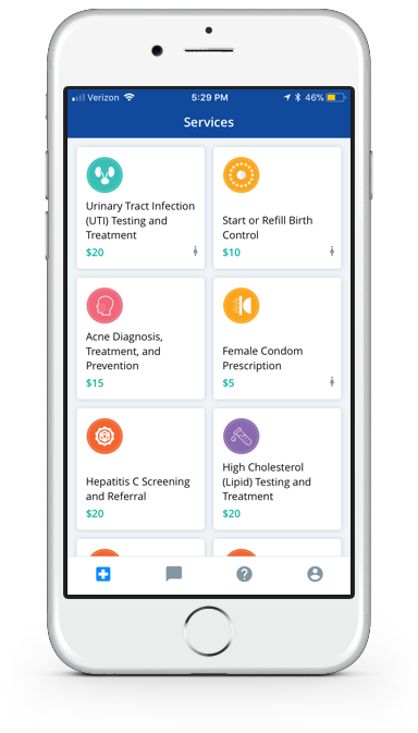 Screenshot of HeyDoctor app.
